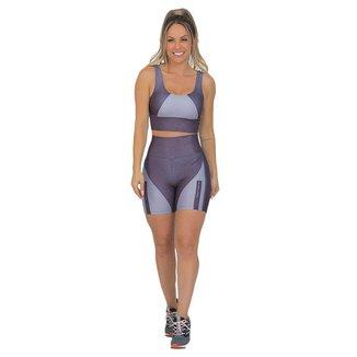 Conjunto Feminino Fitness Xtreme Prata