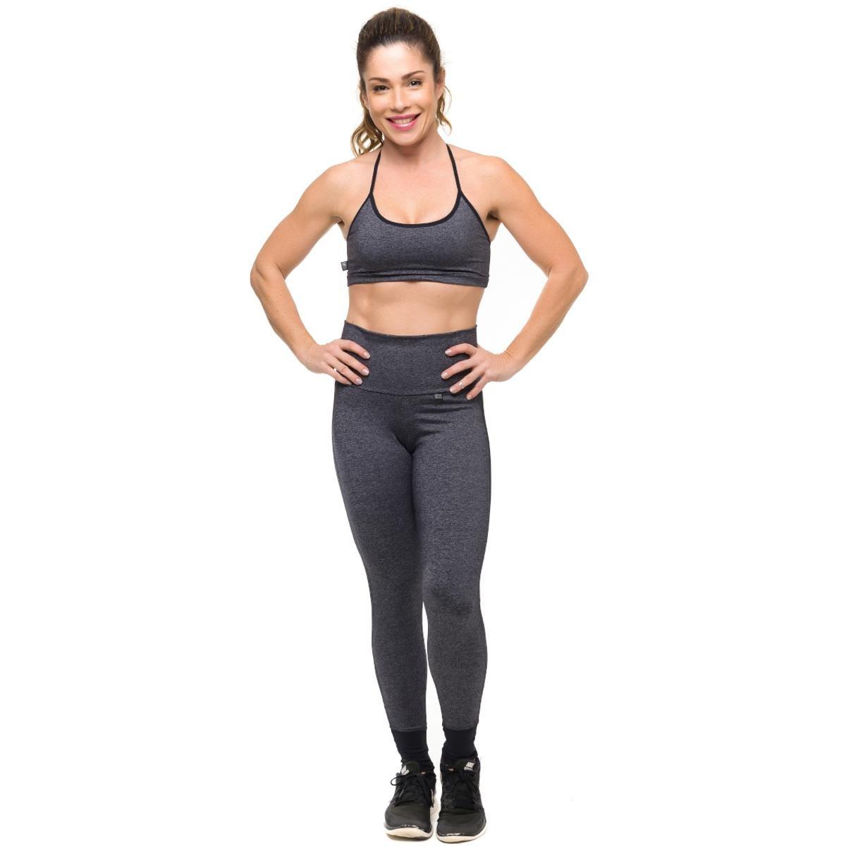 e Air Sandy Top Fit Chumbo Solar Feminino Com Conjunto Legging Proteção Preto Fitness PU5qqw6