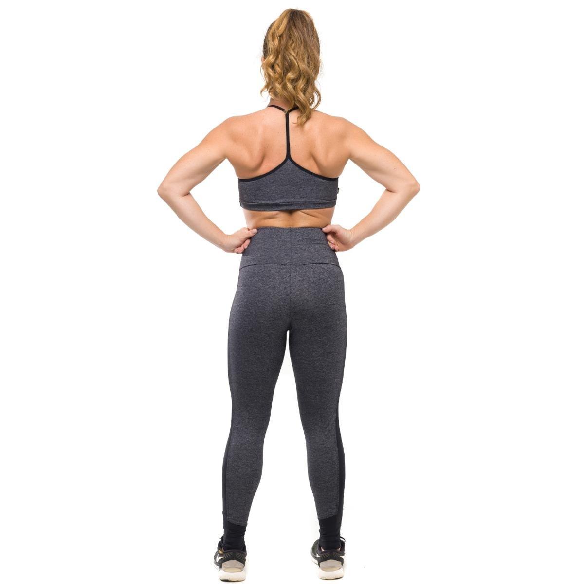 Preto Top Fit Chumbo e Conjunto Proteção Com Solar Air Sandy Legging Fitness Feminino q7qptwSR
