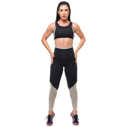 Conjunto Glam Legging/Top Com Proteção Solar Sandy Fitness - Feminino - Feminino