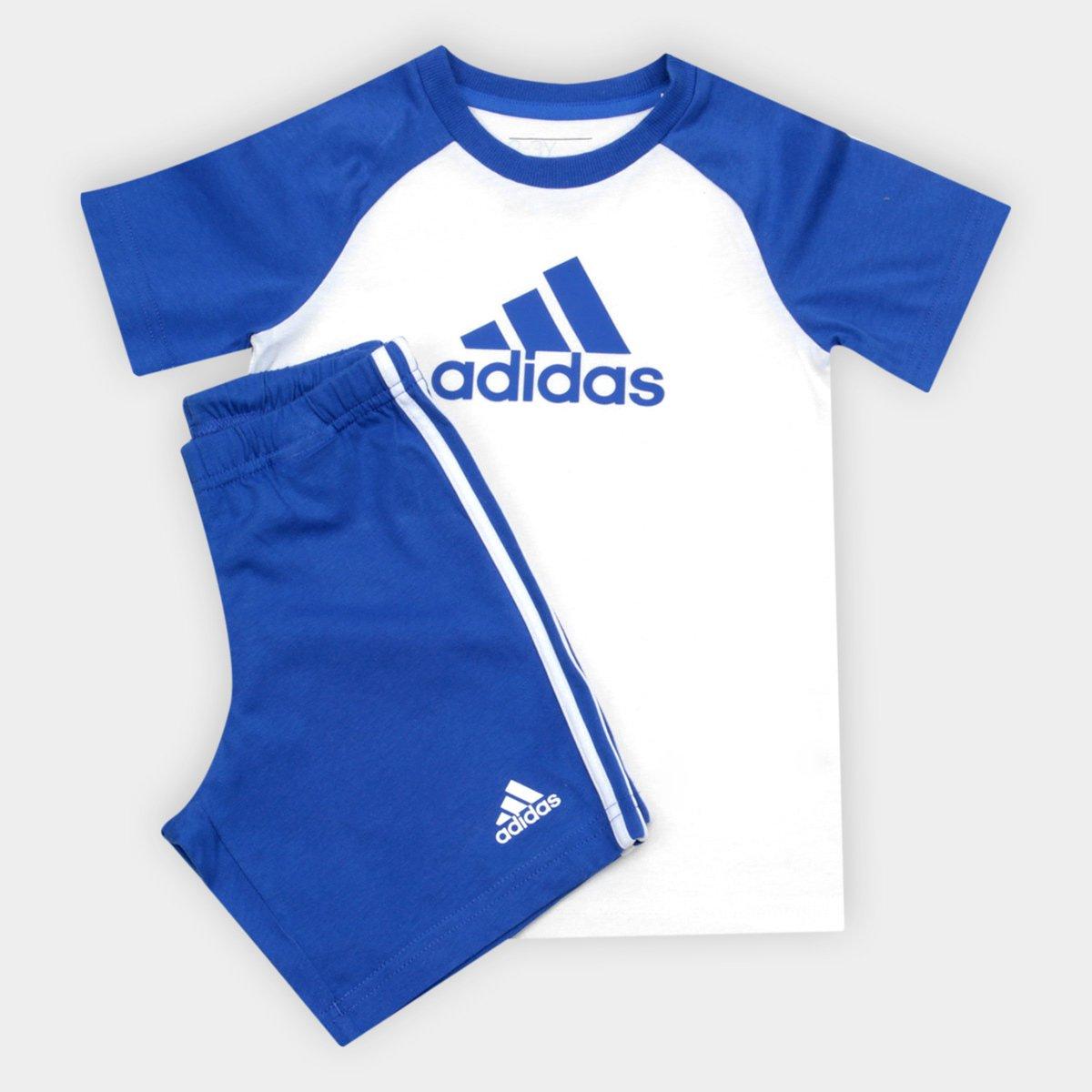 Branco Conjunto Conjunto e Infantil I Set Azul Adidas Infantil Sum OqxxHRF