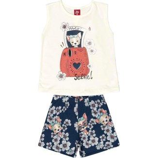Conjunto Infantil Blusa Regata e Short Bee Loop