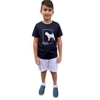 Conjunto Infantil Charpey Camiseta Azul + Bermuda 23510