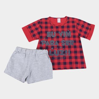 Conjunto Infantil Costão Blusa+Shorts Eu Vim Para Ser Luz Feminino