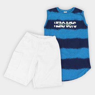 Conjunto Infantil Costão Hero Boys Regata + Bermuda Masculino