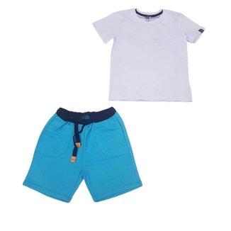 Conjunto Infantil Digi T-Shirt E Bermuda De Moletom Estampa Costa D212619