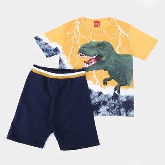 Conjunto Infantil Kyly Dino Tie Dye Masculino