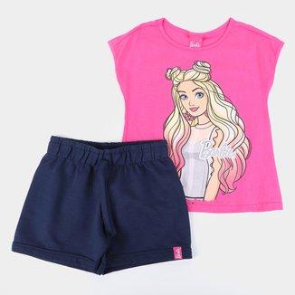Conjunto Infantil Malwee Barbie Feminino