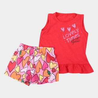 Conjunto Infantil Marlan Corações Feminino