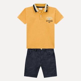 Conjunto Infantil Masculino Camisa Polo + Bermuda Milon 13265.2735.4 Milon