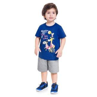 Conjunto Infantil Masculino Camiseta + Bermuda Brandili