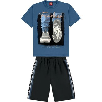 Conjunto Infantil Masculino Camiseta + Bermuda Kyly 110999.6842.16 Kyly