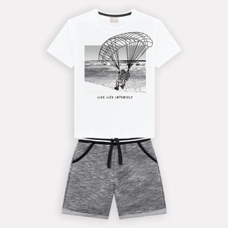 Conjunto Infantil Masculino Camiseta + Bermuda Milon 13295.0001.3 Milon