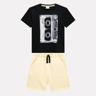 Conjunto Infantil Masculino Camiseta + Bermuda Milon M7826.0020.8 Milon
