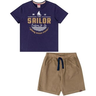 Conjunto Infantil Masculino Camiseta e Bermuda 31066
