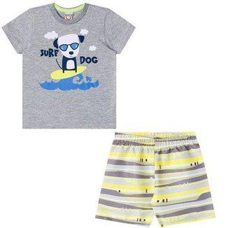 Conjunto Infantil Masculino Camiseta e Bermuda Boca Grande BG14363