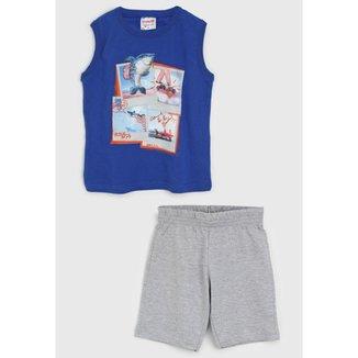 Conjunto Infantil Masculino Regata+Bermuda Brandili