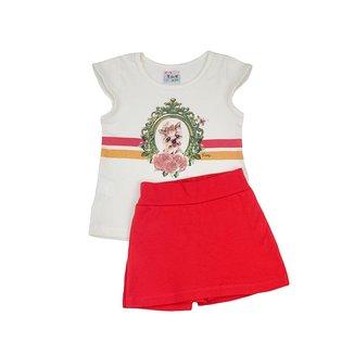 Conjunto Infantil Menina Blusa e Shorts