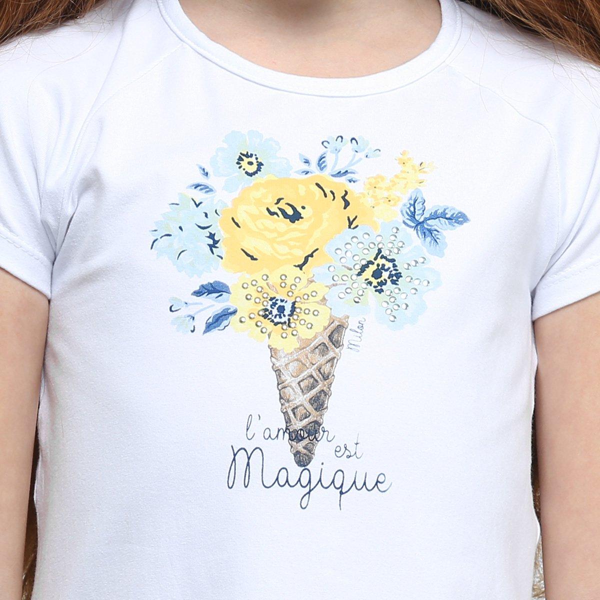 Floral Conjunto Conjunto Infantil Estampado Branco Floral Feminino Estampado Milon Infantil Milon nw8pPq48IA