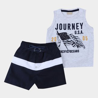 Conjunto Infantil Milon Journey USA Masculino