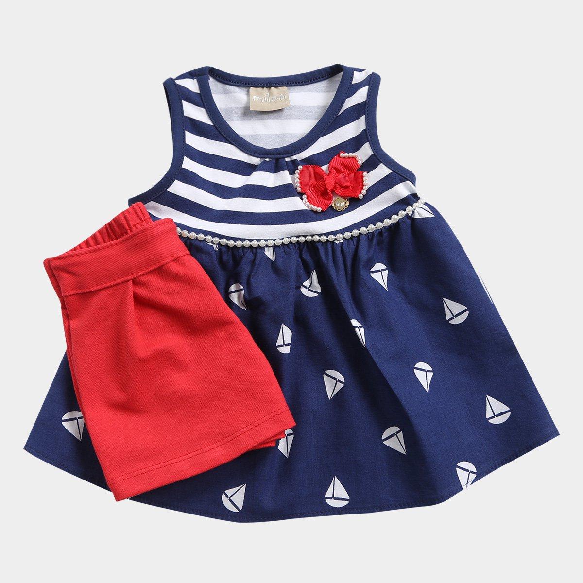 Barquinhos Infantil Milon Listrada Conjunto Navy Feminino Conjunto Azul Infantil w6xqYBg6vZ