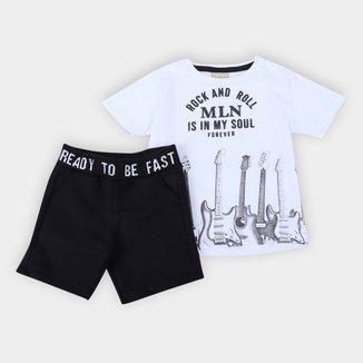 Conjunto Infantil Milon Rock & Roll Masculino