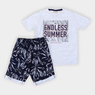 Conjunto Infantil Milon Summer Folhagens Masculino