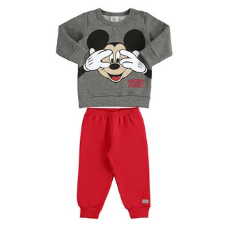 Conjunto Infantil Moletom Disney Mickey Mouse Masculino