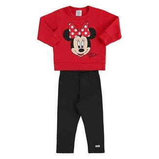 Conjunto Infantil Moletom Disney Minnie Feminino