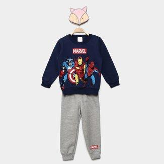 Conjunto Infantil Moletom Marvel By Marlan Avengers Masculino