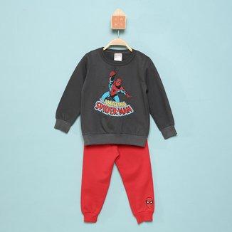 Conjunto Infantil Moletom Marvel By Marlan Spider-Man Masculino
