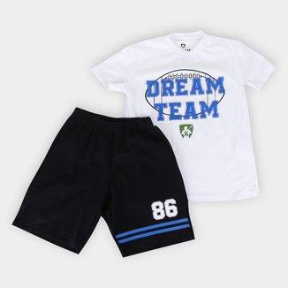 Conjunto Infantil MR. Kitsch Dream Team Camiseta + Short Masculino