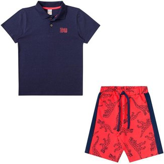 Conjunto Infantil Polo e Bermuda Boca Grande 45944