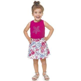 Conjunto Infantil Regata e Saia Shorts BG13623* Boca Grande Feminino