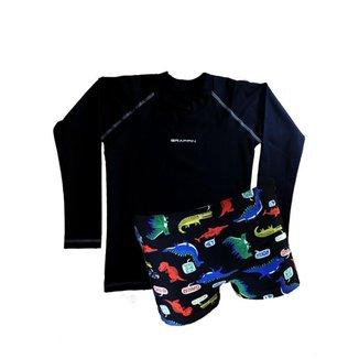 Conjunto Infantil Sunga e Camiseta Proteção UV Grappin