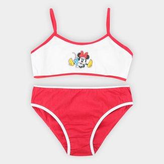 Conjunto Infantil Top+Calcinha Evanilda Disney Minnie Feminino