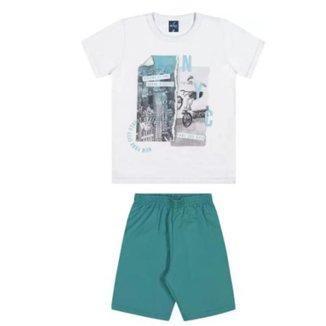 Conjunto Infantil Verão Masculino Romitex