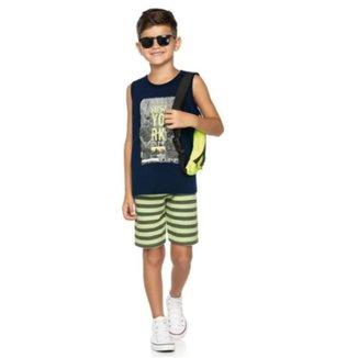 Conjunto Infantil Verão Regata e Bermuda New York Romitex