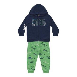 Conjunto Jaqueta c/ Capuz e Calça - Fakini - Lukas Kids Moda Infantil