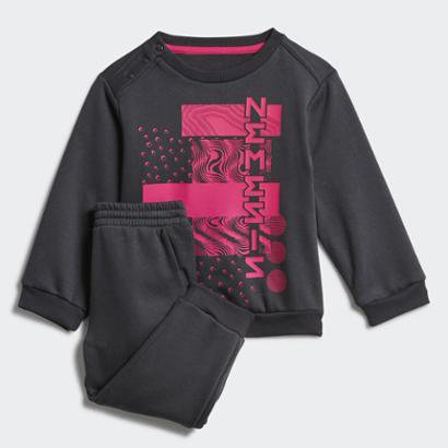 Conjunto Jogger Mini Me Nemeziz Top Carbon Adidas Feminina