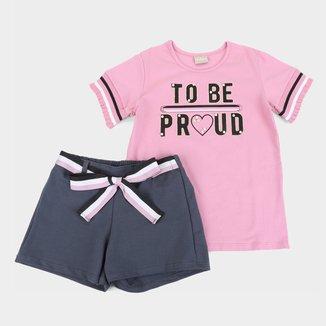 Conjunto Juvenil Milon Com Shorts Molicotton To Be Feminino