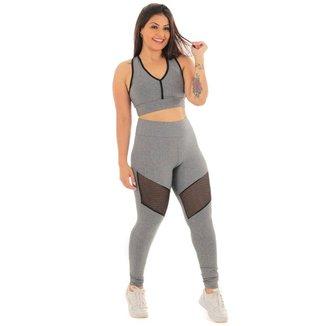 Conjunto legging telinha com top