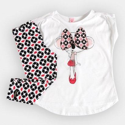0a62b8644d8 Conjunto Lilica Ripilica Blusa+Legging Menina Infantil - Compre Agora