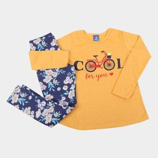Conjunto Longo Infantil Pipa Cool For You Feminino