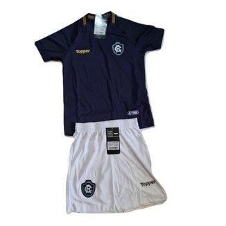 Conjunto Mini Kit Infantil Oficial Remo Azul 2018 Home