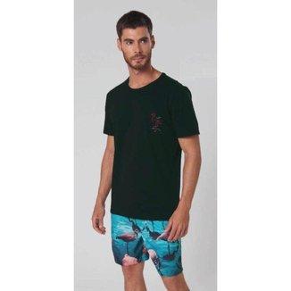 Conjunto Moda Praia Shorts e Camiseta Masculino Mash