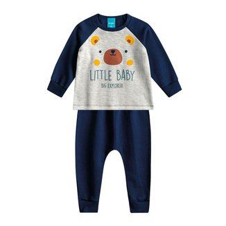 Conjunto Moletom Bebê Kamylus Little Baby Masculino