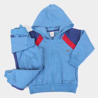 Conjunto Moletom Infantil Costão Calça E Jaqueta Com Capuz Masculino