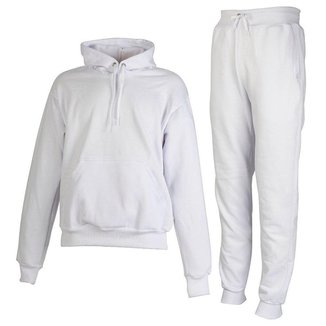 Conjunto Moletom Plus Size Peluciado Branco