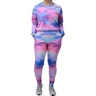Conjunto Moletom Tie Dye Neway Feminino